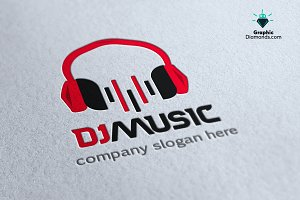 Dj Music Logo Template