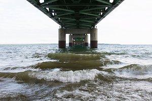 Under Mackinac Bridge
