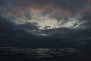 Dark Sunset,  Pacific Ocean