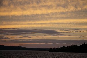 Sundown over Munising Lighthouse