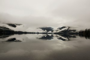 Mountain Lake Clouds, Lake Crescent