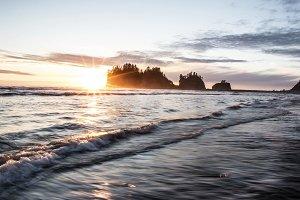 Sunset over Coastal Islands