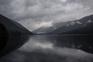 Ominous Lake Crescent