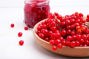 cranberry jam on a white background