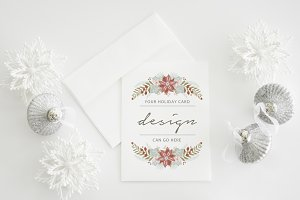 Holiday Card Mockup | portrait