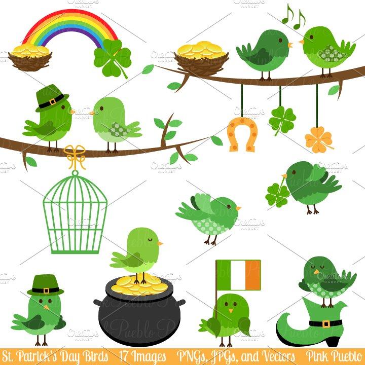 St Patrick's Birds Clipart & Vectors ~ Illustrations ...