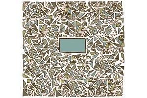 Hand drawn triangle pattern