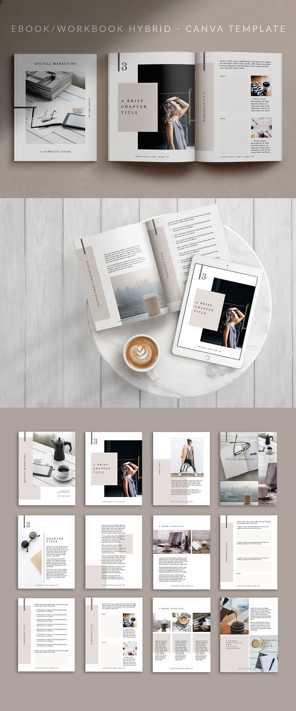 Workbook/eBook Canva Template | Mio in Magazine Templates - product preview 4