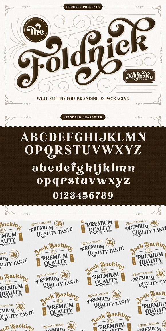 The Foldnick in Display Fonts - product preview 8