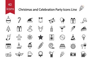 Christmas and Celebration Party Icon