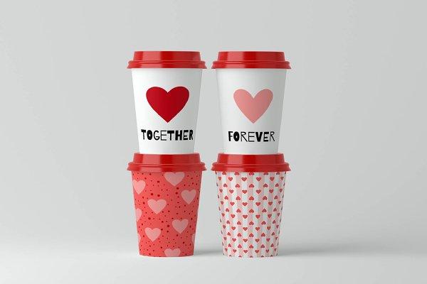 Heart Clipart & Heart Pattern. Love