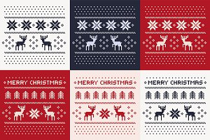 christmas winter patterns