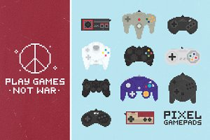 Pixel gamepads set