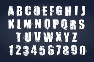Vector Grunge Letters