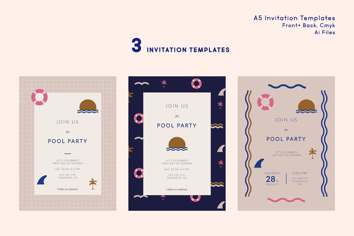 Pool Party Invitation Templates | Creative Flyer Templates ...