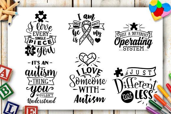 Autism Bundle 40 Autism Svg Files Pre Designed Illustrator Graphics Creative Market