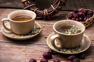 ceramic cups brewed tea