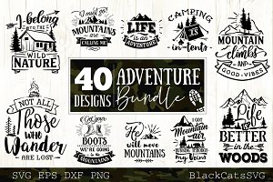 Adventure SVG bundle 40 designs