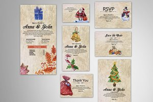 Christmas & New Year Invitation Pack