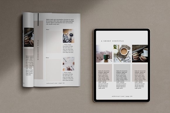 Workbook/eBook Canva Template | Mio in Magazine Templates - product preview 5