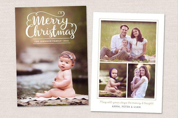 Christmas Card Template CC098