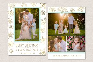 Christmas Photo Card Template CC0101