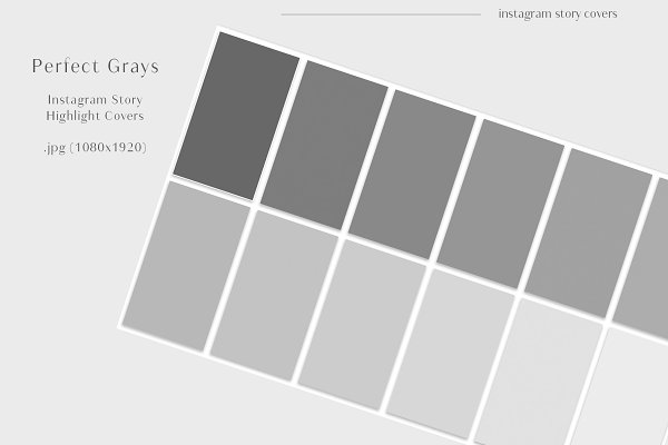 Perfect Grays Story Highlight Covers