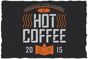 Hot Coffee Label Font