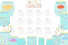 Magic Calendar for 2016 in vector.