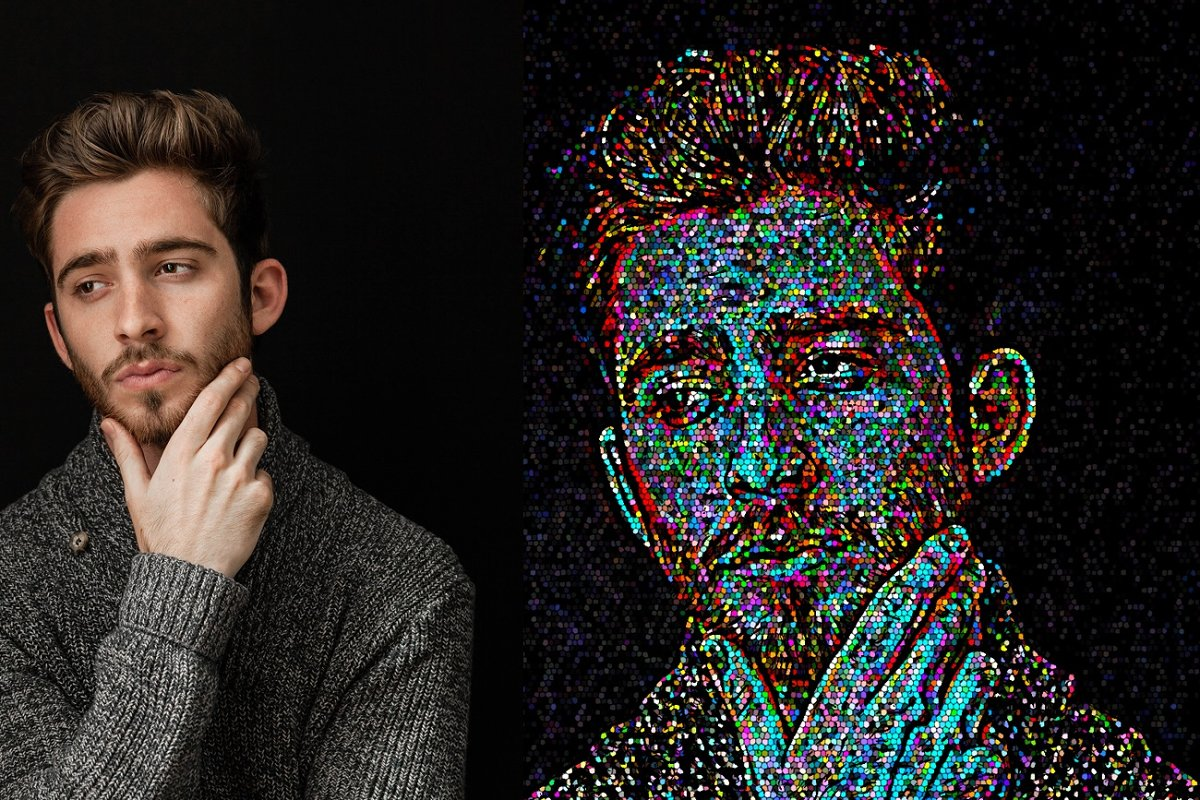 Colorful Pixel Art Action