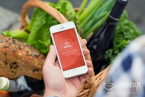 "Mockup iPhone Food Marketplace ""A"""