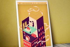 My neighbor is a Jazzman