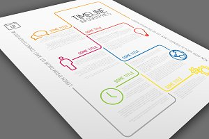 Vector Timeline Template