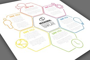 Infographic Template - Hexagons