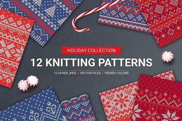 12 Knitting Seamless Patterns
