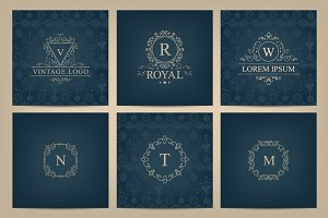 Vintage design elements bundle