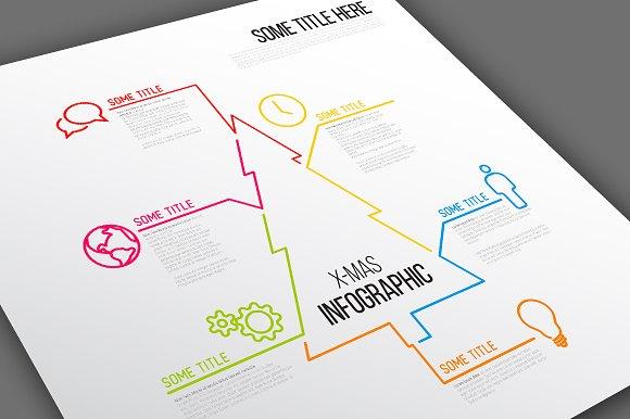 Infographic Template Christmas Tree Presentation Templates