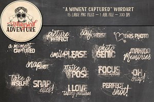 A Moment Captured Wordart