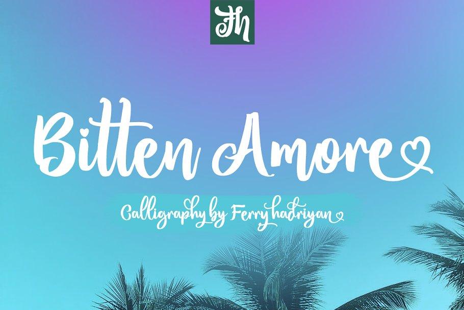 Bitten Amore - Script Font