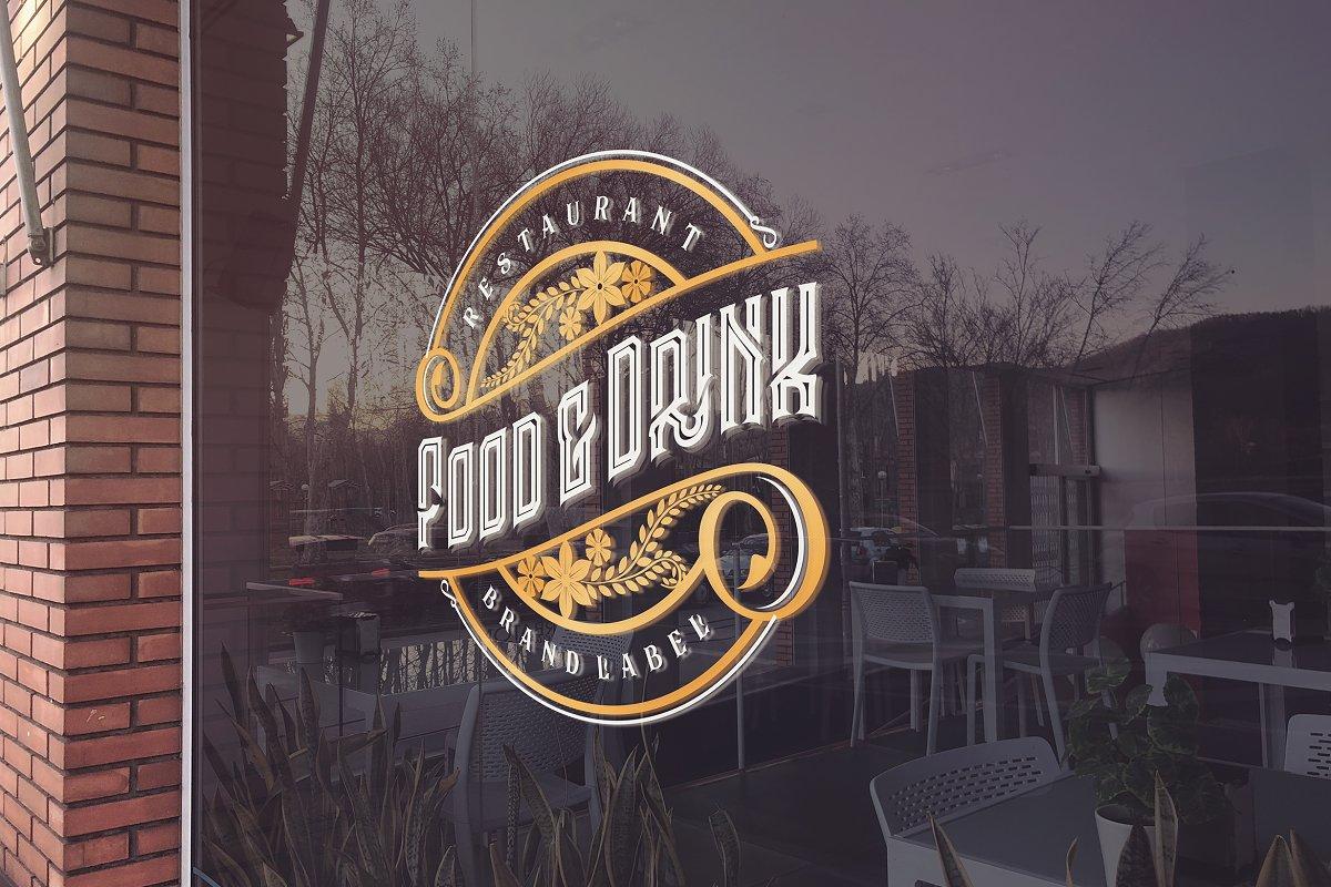 Glass Restaurant Logo Mockup Creative Mockup Templates