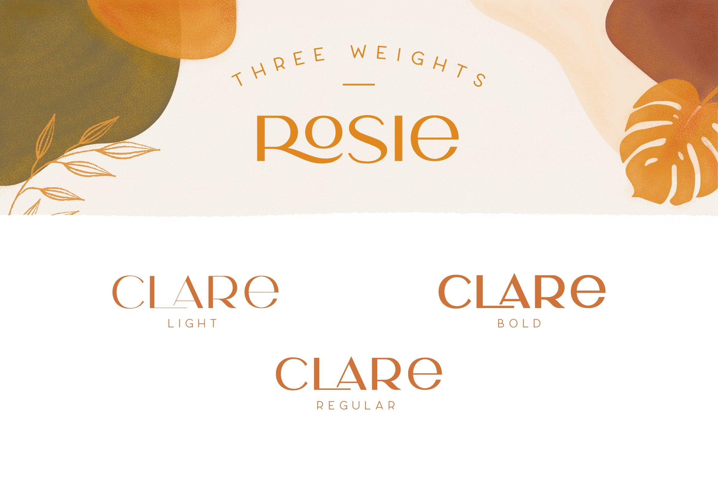 Шрифт – Rosie