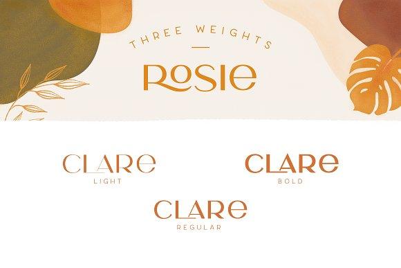 Rosie Sans - Gorgeous Typeface in Sans-Serif Fonts - product preview 1