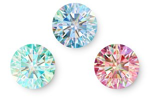 Set of Precious Gems Isolated Vector