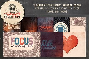 A Moment Captured Journal Cards