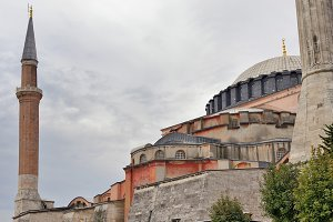 Hagia Sophia in a cloudy day.