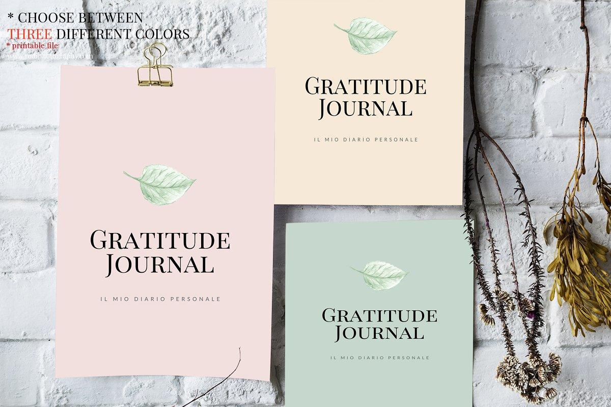 Gratitude Journal -(GREEN Printable)