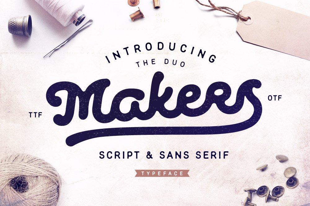 Makers Script Amp Sans Serif Script Fonts Creative Market