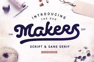 Makers Script & Sans Serif