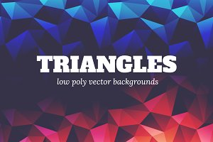 Triangles: 12 Low Poly Backgrounds
