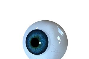 Eye ball isolated on whitebackground